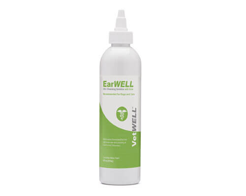 vetwell earwell ear cleaner, dog ear cleaning solution