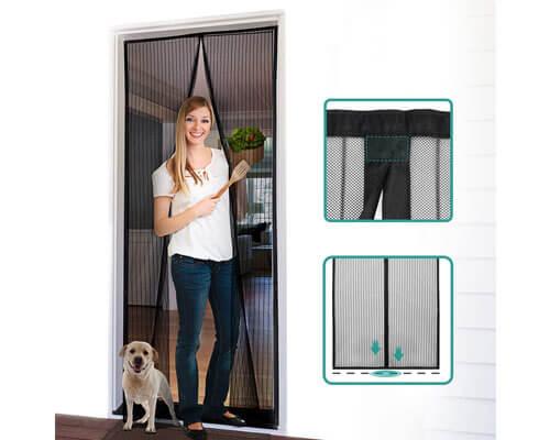 homitt magnetic screen door, magnetic mesh screen door, best magnetic screen door
