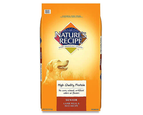 nature's recipe dog food, best senior dog food for small dogs