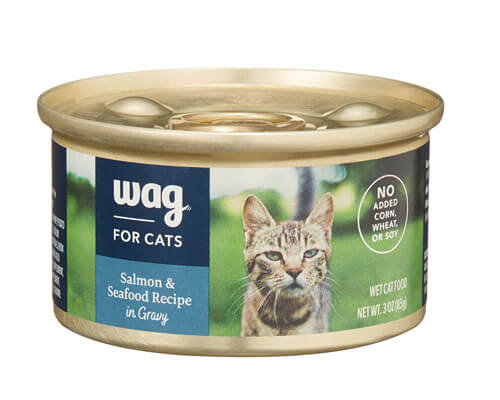 amazon brand wag cat food, moist cat food for older cats