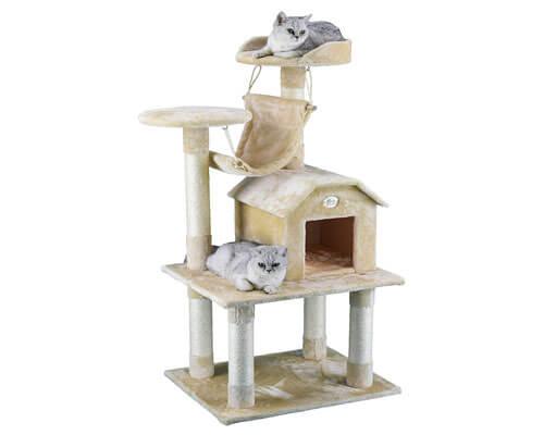 Go Pet Club Beige Cat Tree Condo