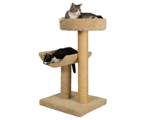 Molly and Friends Beige Carpet Covered Cat Tree