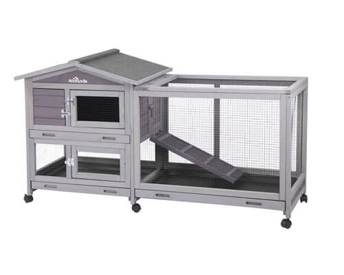 aivituvin rabbit hutch, best hutch design for pet rabbit