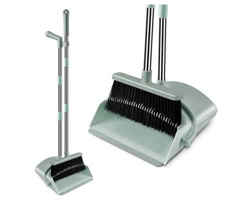 kelamayi broom and dustpan set, best type broom for dog hair